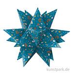 Aurelio-Stern Bastelset - Winterzauber Petrol-Braun, 14,8x14,8 cm 115g