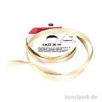 Band - Creme mit Gold Zacken, 2 m