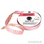 Band - Pink mit Gold Punkten, 2 m