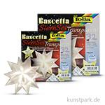 Bascetta-Stern Bastelset, 115g - weiß 15x15 cm