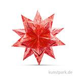 Bascetta-Stern Bastelset - Rot-Winterornament Gold, 90g 15 x 15 cm