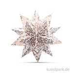 Bascetta-Stern Bastelset - Weiß-Sterngrafik Kupfer, 90g 15 x 15 cm