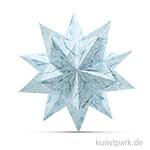 Bascetta-Stern Bastelset - Weiß-Winterornament Eisblau, 90g 20 x 20 cm