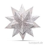 Bascetta-Stern Bastelset - Weiß-Winterornament Kupfer, 90g 20 x 20 cm