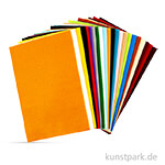 Bastelfilz-Sortiment aus 100% Polyester, 20x30 cm, Dicke 1,5 mm, 24 Blatt sortiert