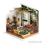Bastelset Miniatur-Zimmer - Garten, mit umfangreichem Zubehör