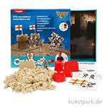 Bastelset - Sandy Clay Burg, Spielsand mit Förmchen als Geschenk-Kit