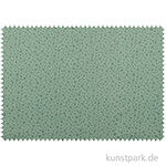 Baumwollstoff - Sterne Mintgrün - 1 m x 1,5 m