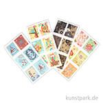 Briefmarken-Sticker - Freizeit, 72 Stück
