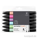 Brush Marker - Winsor & Newton 6er Set, Pastelltöne
