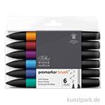 Brush Marker - Winsor & Newton 6er Set, Reiche Töne