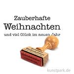 Butterer Statement-Stempel - Zauberhafte Weihnachten, 1,5x4 cm