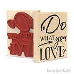 Butterer Stempel - Do what you Love, 7x10 cm