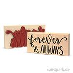 Butterer Stempel - Forever & Always, 12x6 cm