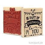 Butterer Stempel - Happy Birthday, 7x10 cm
