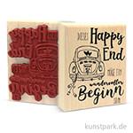 Butterer Stempel - Happy End, 8x10 cm