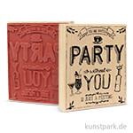 Butterer Stempel - Party, 8x10 cm
