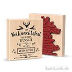 Butterer Stempel - Weihnachtsfest, 8x9 cm