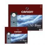 Canson MI-TEINTES Pastellblock 160 g - 16 Blatt, Schwarz