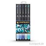 Chameleon Pen Set - 5 Blue Tones