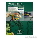 Clairefontaine Pastelmat - 4-farbig Dunkelgrün, Hellgrün, Dunkelblau, Weiß, 24 x 30 cm