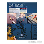 Clairefontaine Pastelmat - 4-farbig Weinrot, Dunkelblau, Hellblau, Sand, 24 x 30 cm