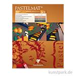 Clairefontaine Pastelmat - 4-farbig Weiß, Braun, Sienna, Anthrazit, 24 x 30 cm
