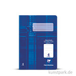 Clairefontaine Schulheft DIN A5, 16 Blatt, 90g, Lin. 4, liniert
