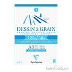 Clairefontaine Zeichenblock Dessin à grain, 29,7 x 42 cm, 125 g, 40 Blatt