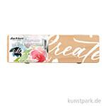 da Vinci - Frau Hölle Edition Floral Geschenkbox, Holz mit 3 Pinseln
