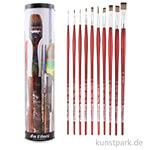 da Vinci Geschenkdose - 10 verschiedene Pinsel COLLEGE