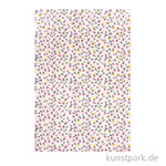 DECOPATCH Texturpapier 788 - Rosa Blumen