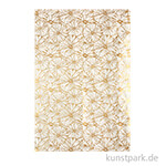 DECOPATCH Texturpapier 790 - Blumen, Gold-Metallic