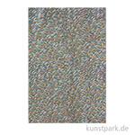 DECOPATCH Texturpapier 802 - Wellen, Petrol-Metallic