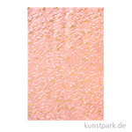 DECOPATCH Texturpapier 803 - Wellen, Rosa-Metallic