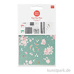 Decoupage Papier - Jardin Japonais, Kois & Blumen, 3 Stück