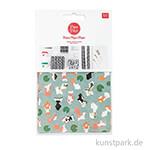 Decoupage Papier - Jardin Japonais, Kois & Lotos, 3 Stück