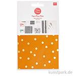 Decoupage Papier - Punkte Senfgelb, 3 Stück
