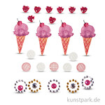 Deko-Sticker - Eis, 24 Stück sortiert