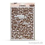 Design Schablone Ziegelwand DIN A4