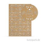 Designkarton Selection - Hochzeit silber, DIN A4, 250 g