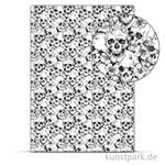 Designkarton Skull - Weiß, DIN A4, 200g