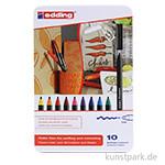 edding 1300 Colourpen Set, Metallschachtel mit 10 Farben