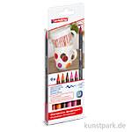edding 4200 Porcelain Brushpen 6er Set - Warm Colours
