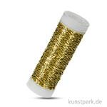 Effektdraht 0,25 mm, 45 m Rolle Messing Goldfarben
