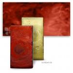 Encaustic Malplättchen Metallicfarbe Einzel | 10 Lavarot