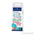 Faber Castell PITT Artist Pen Handlettering 6er Set - Pastelltöne