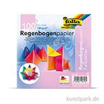 Faltblätter aus Regenbogenpapier, 110g, 100 Blatt 15 x 15 cm