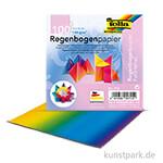 Faltblätter aus Regenbogenpapier, 110g, 100 Blatt