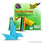 Faltblätter eckig, 100 Blatt, 70g - farbig sortiert 20x20 cm